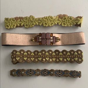 Lot of Anthropologie Beaded Embellished belts